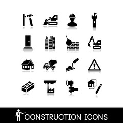 Icons construction - set vector 11
