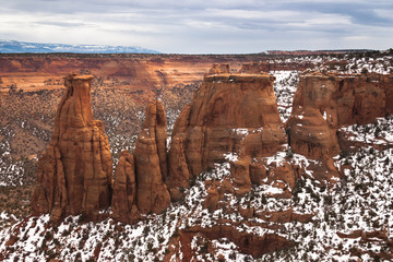 Rock formations of Colorado National Monument