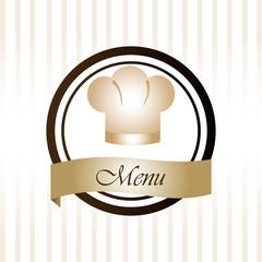 Restaurant design over white background vector illustration
