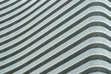 Balconies of modern condominium