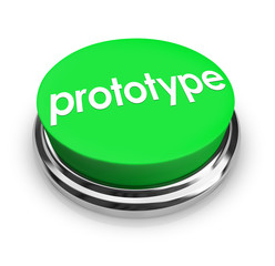 Prototype Word Green Button Product Concept Sample Mock-Up