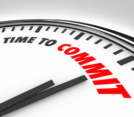 Time to Commit Words Clock Dedication Pledge Vow