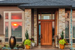 Beautiful New Home Exterior at Sunset