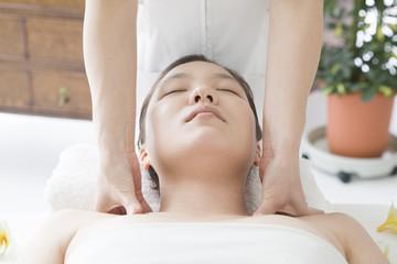 Neck of lymphatic massage