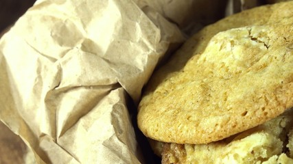 Portion of homemade Cookies (seamless loopable 4K UHD footage)