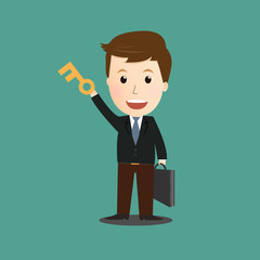 Vector of businessman concept.key