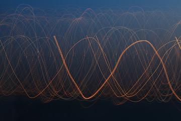 Light pattern of light on long exposure.