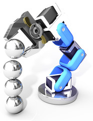 Robotic arm technology industrial balls