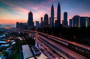 Kuala Lumpur during sunrise