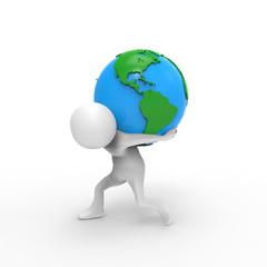地球を背負う人