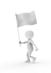旗を持つ人