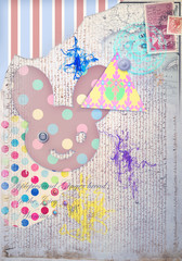 Collage,patchwork and scrapbook background
