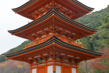 Kiyomizu dera Temple in Kyoto, Japan