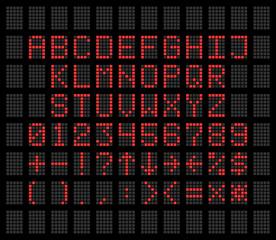 Electronic alphabet