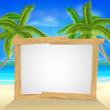 Beach holiday palm tree sign