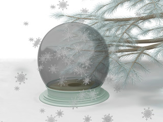 Snow Globe and a Pine Tree