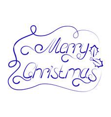 Cute Christmas lettering, handmade calligraphy