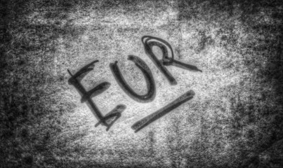Euro Zeichen - grau