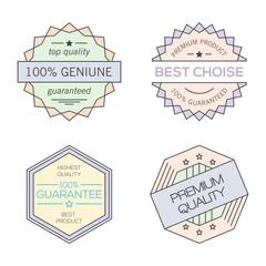 Colorful geometric minimal vintage badges