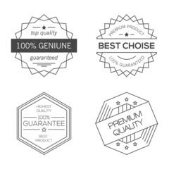 Geometric minimal vintage badges