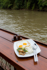 Riverside breakfast with Thaifood