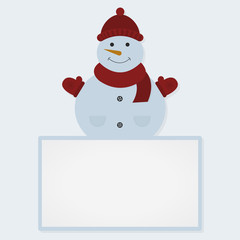 Snowman and white sheet