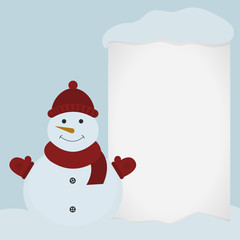 Snowman and Blank sheet of paper