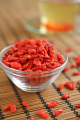 Goji berry in a bowl