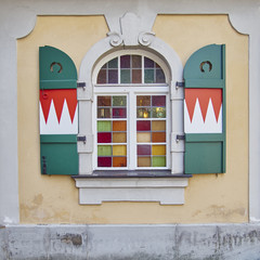 picturesque arched window, Bamberg, Germany