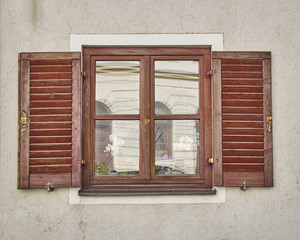 vintage home window, Munchen, Germany