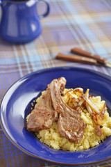 Lamb cutlets with couscous