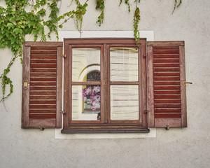 vintage home window, Munchen, Germany