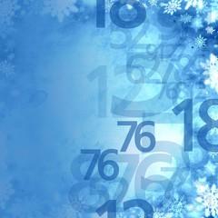 frozen xmas winter sale numbers elegant background