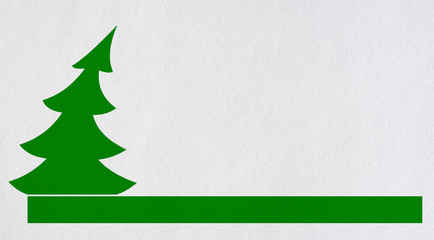 Illustration of a Christmas tree in the background paper.