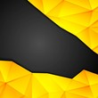 Tech geometry yellow and black background
