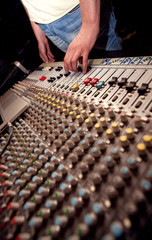 Soundman with mixing console