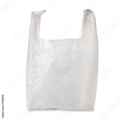 Plastic Grocery Bag / with clipping path - 74065110