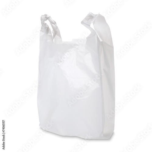 Plastic Grocery Bag / with clipping path - 74065117