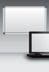 Laptop with magnetic board