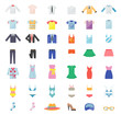 Large Set of Clothing Icons - 74065545