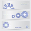 Abstract vector illustration of a snowflake
