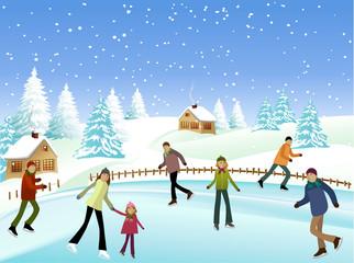 Winter skaters