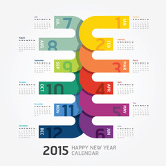 2015 Calendar / 2015 Happy new year. Calendar design.