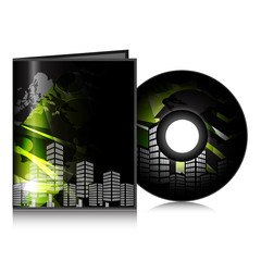 Stylized CD Cover design template. EPS 10.