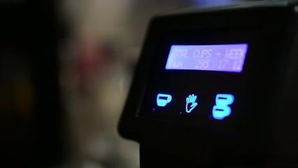 coffee machine - display - closeup