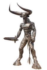Devil Statue made from metal