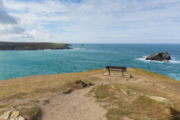 View from headland Pentire Newquay Cornwall UK by Crantock