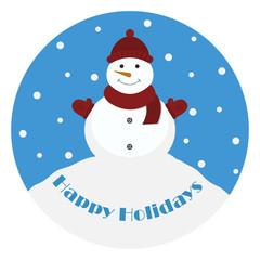 Snowman. Happy Holidays