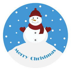 Snowman. Marry Christmas