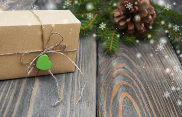 christmas trees with  gift box